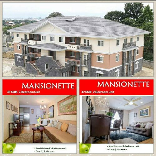 Mansionettes are all 2-bedroom residential condominium units
