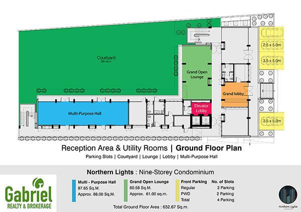 building plan on the ground floor