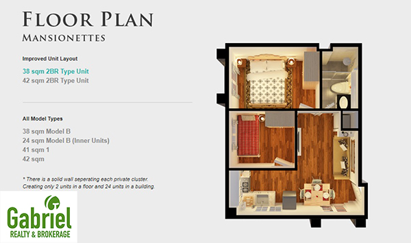 MANSIONETTES floor plan in apple one banawa condominium