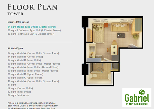 tower model floor plan, a residential condominium in cebu