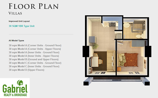 villas floor plan in banawa condominium