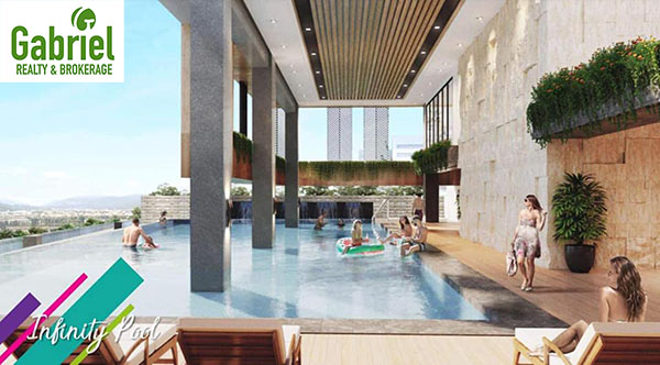 Infinity pool at the top of the condominium