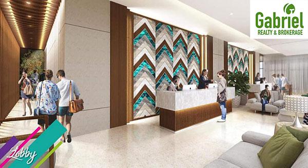 spacious lobby of the condo