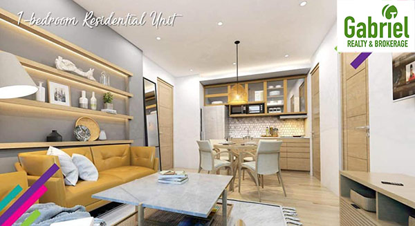1 bedroom residential unit floor lay out