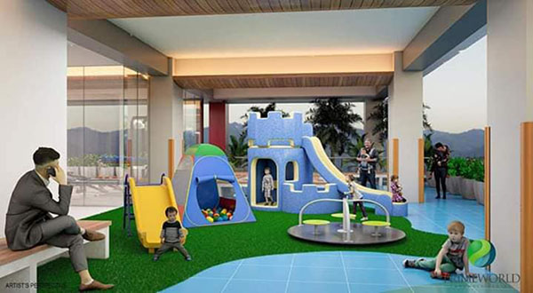 children's play ground in the condominium