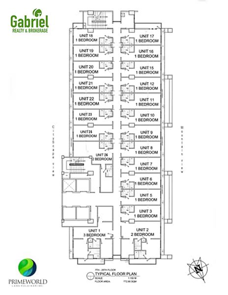 the typical building floor plan