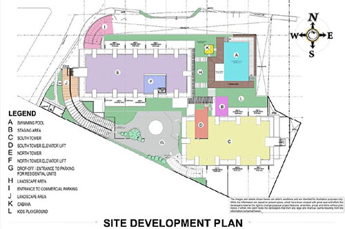 site development plan or master plan of the condo project