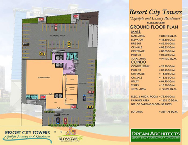 building plan at the ground floor