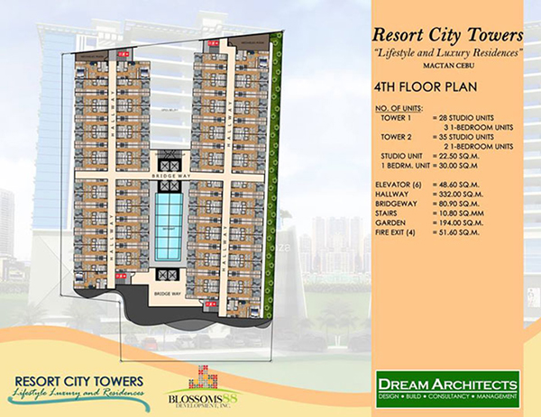 building plan at the 4th floor