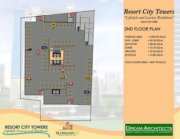 building plan at the 2nd floor