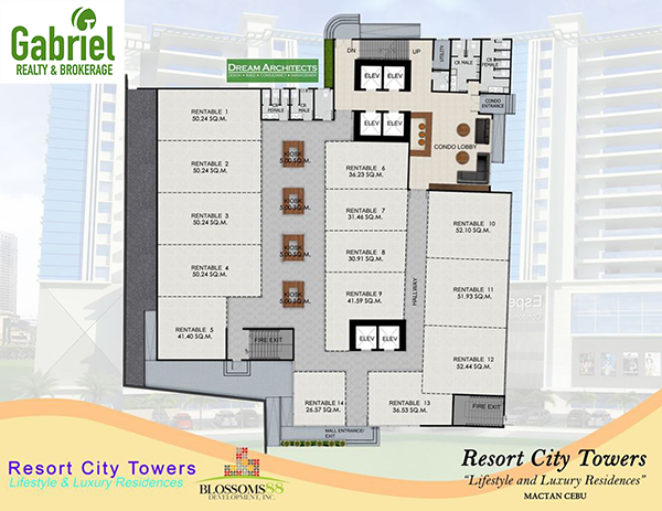 typical building plan of resort city towers mactan