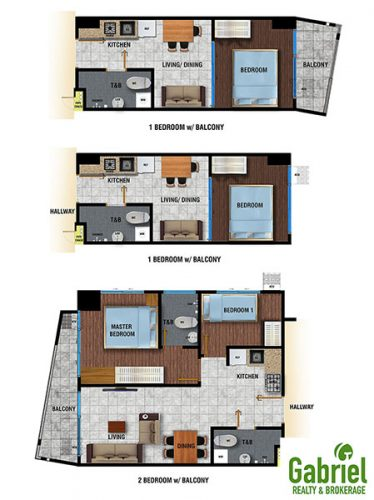 typical floor plans of the condominium
