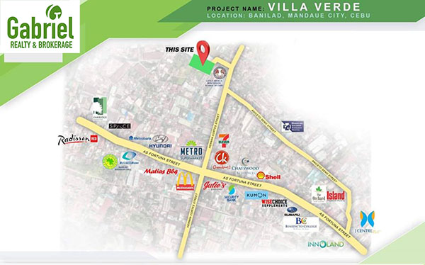 vicinity map, very near major establishments in Mandaue