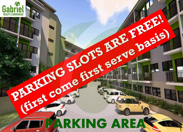 parking area where slots are free