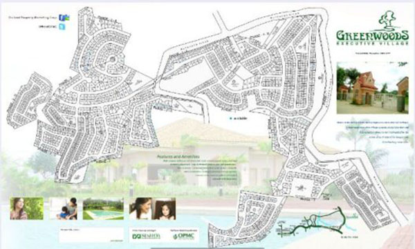 vicinity map of Greenwoods Executive Homes Cebu
