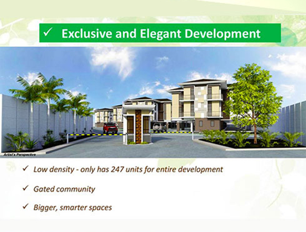 exclusive and elegant development