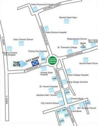 vicinity map of city soho mall, hotel very near hospitals