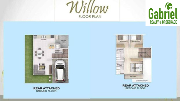 rear attached floor plan