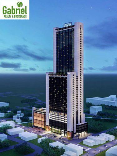 Double M Towers condominium, hotel, and car park buildings
