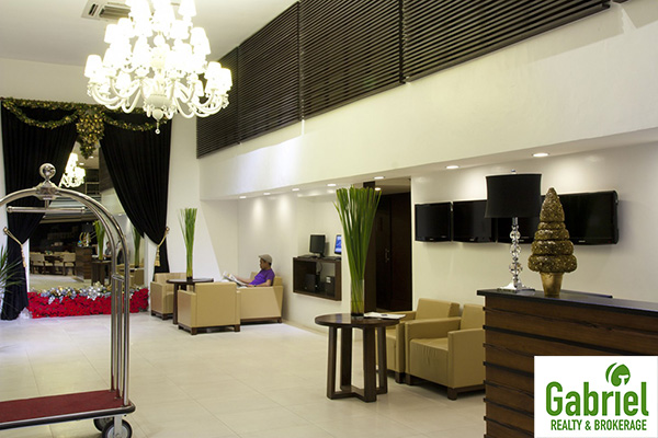 spacious lobby and reception area