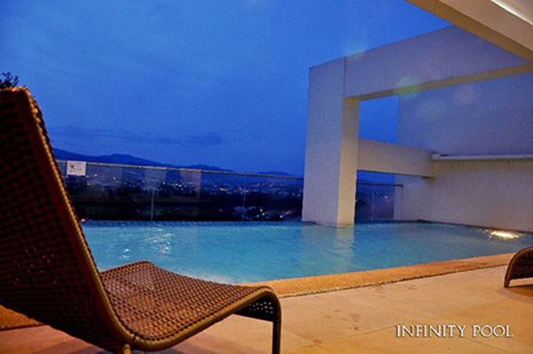 infinity pool with spectacular view of the cebu city