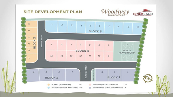 site development plan of woodway townhouses