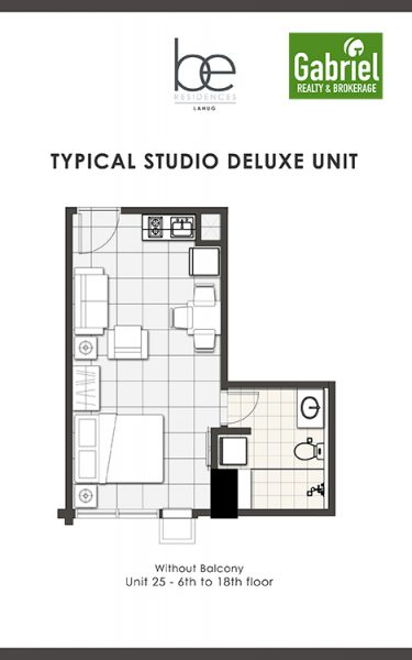 studio deluxe in be residences