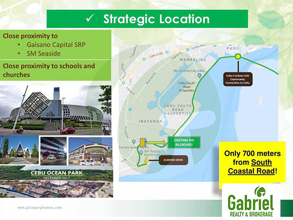 strategic location near to SM seaside and gaisano capital SRP
