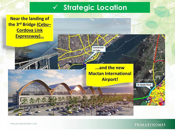 location is very accessible to mactan international airport