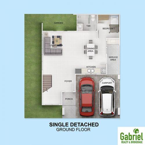 single detached floor plan