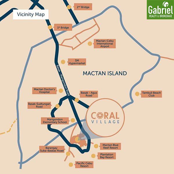 location of coral village mactan