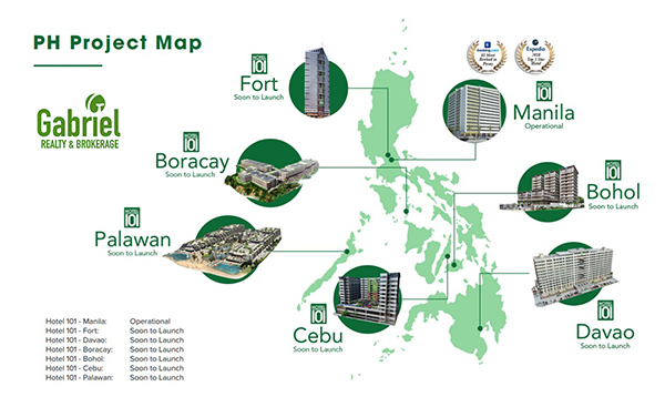 hotel 101 projects all over the philippines