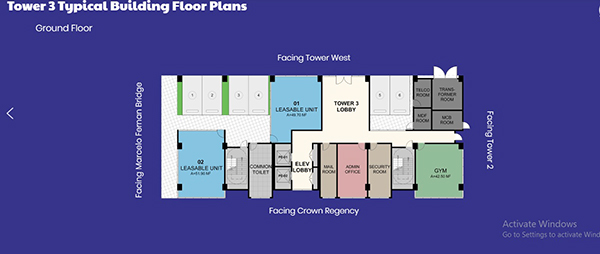 tower 3 typical building floor plans