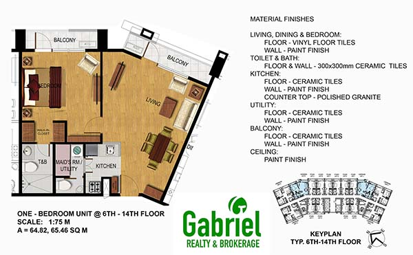 condotel 1 bedroom floor plan