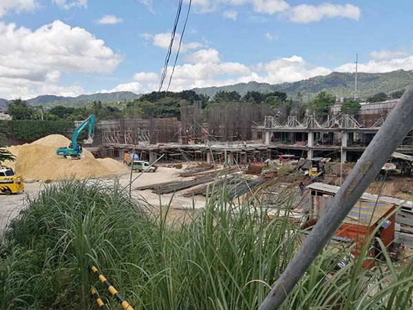 update on the construction of 128 nivel hills lahug