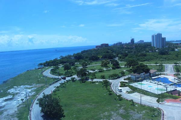 view from the balcony in Arterra Residences Mactan