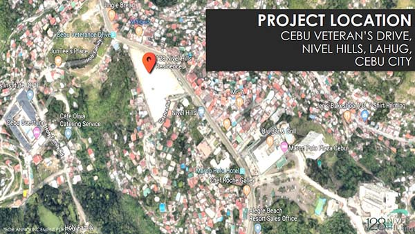 project location of the condominium in lahug