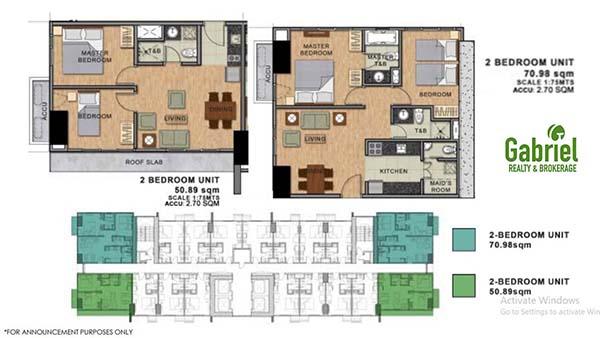 residential 2 bedroom floor plan