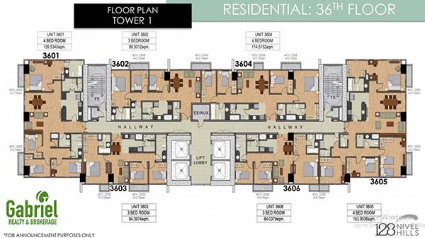 residential condominium floor plan