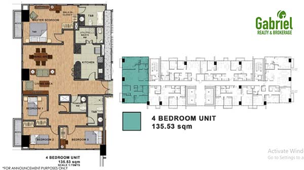 residential 4 bedroom floor plan