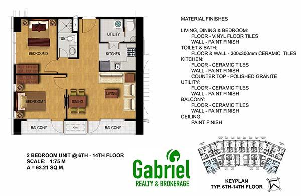 condotel 2 bedroom floor plan