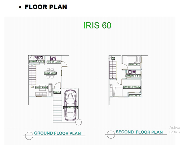 iris 60 single attached floor lay out