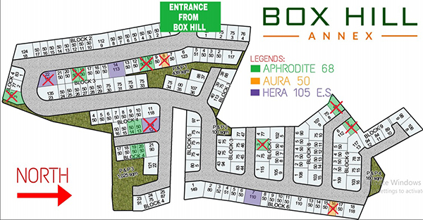 site development plan of box hill annex