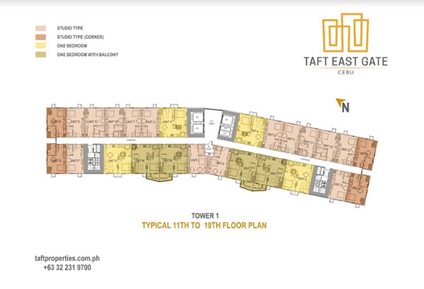taft east gate floor plan