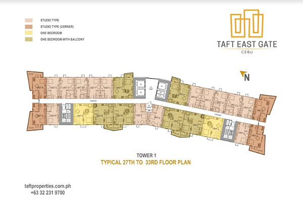 building floor plan of taft east gate