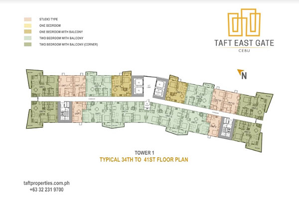 building floor plan of taft east gate cebu
