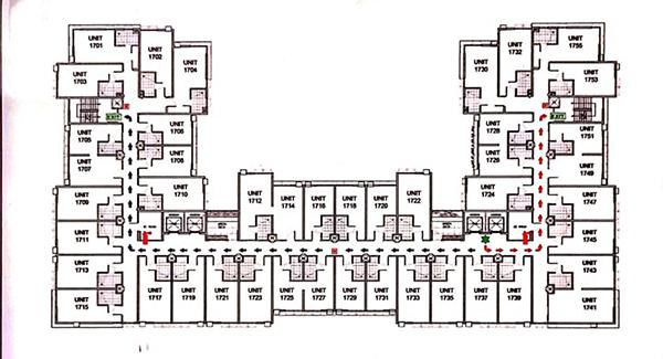 building plan of persimmon studios