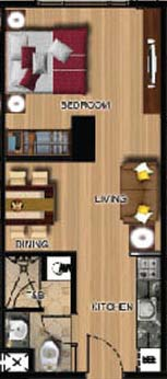 studio condominium floor plan