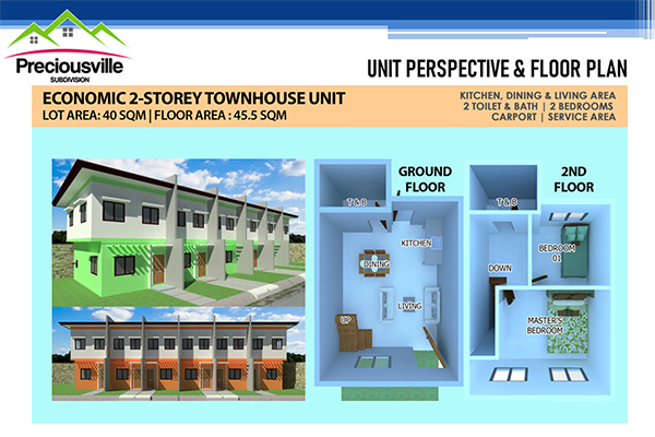 townhouses floor plan in preciousville talisay