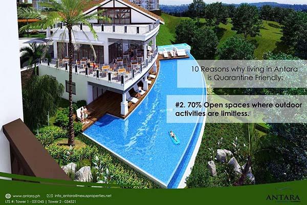 amenities in antara cebu condominium for sale